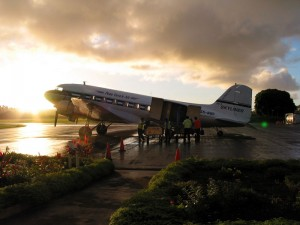 DC3-at-Sunrise---Tonga