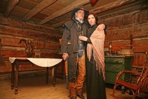 Trapper and Wife on the set of The Gold Nugget