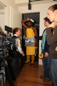 Actors Jason Palmer and Anthony Alabi Prepare for Another Take