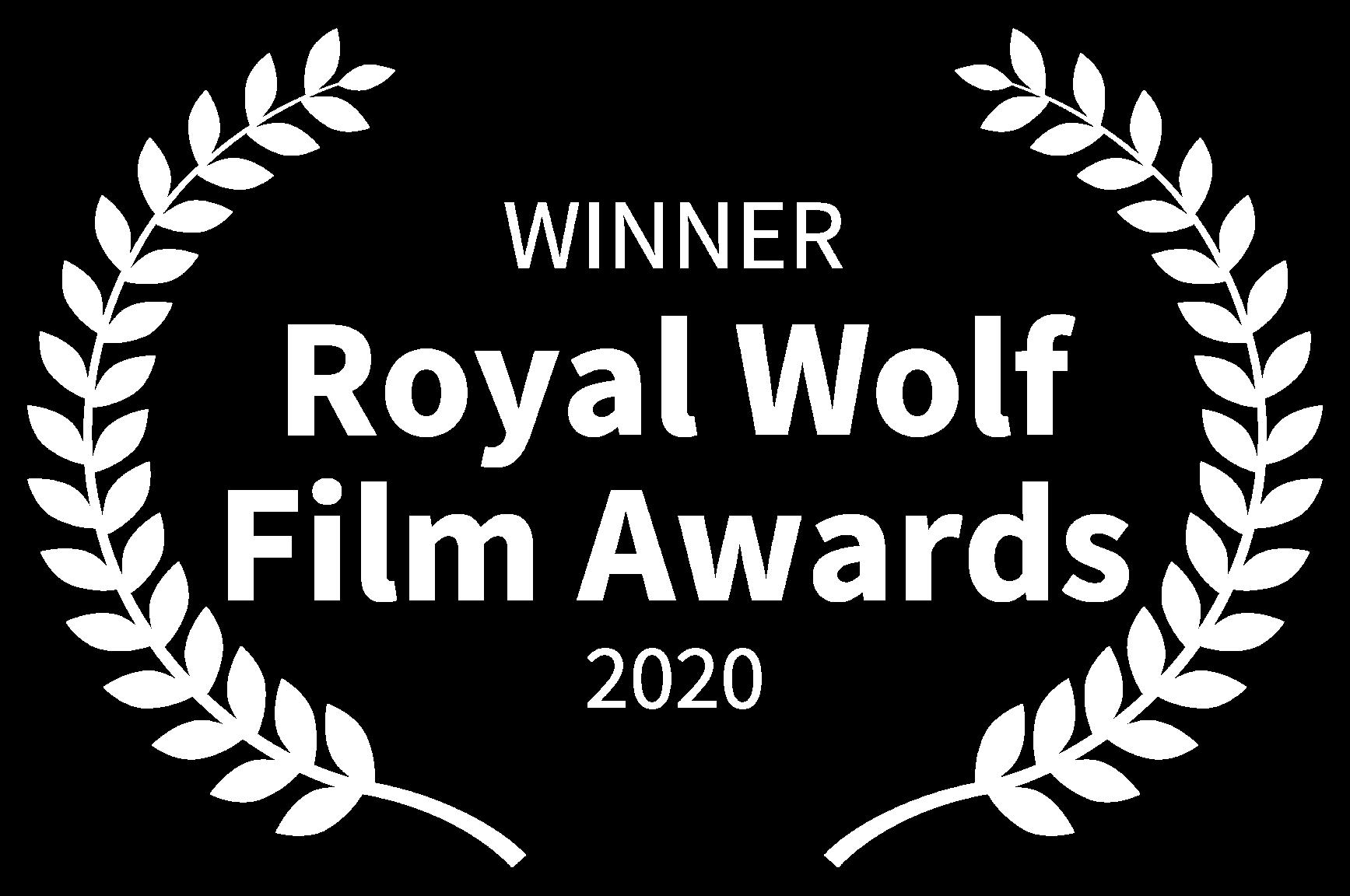 WINNER - Royal Wolf Film Awards - 2020