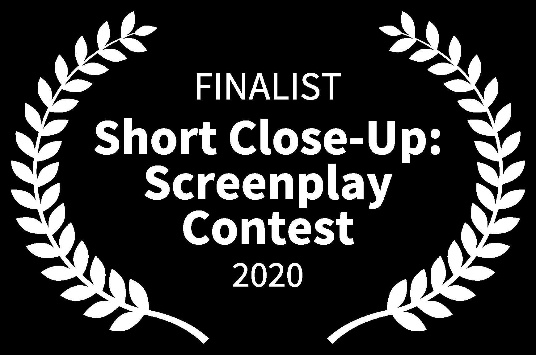FINALIST - Short Close-Up Screenplay Contest - 2020