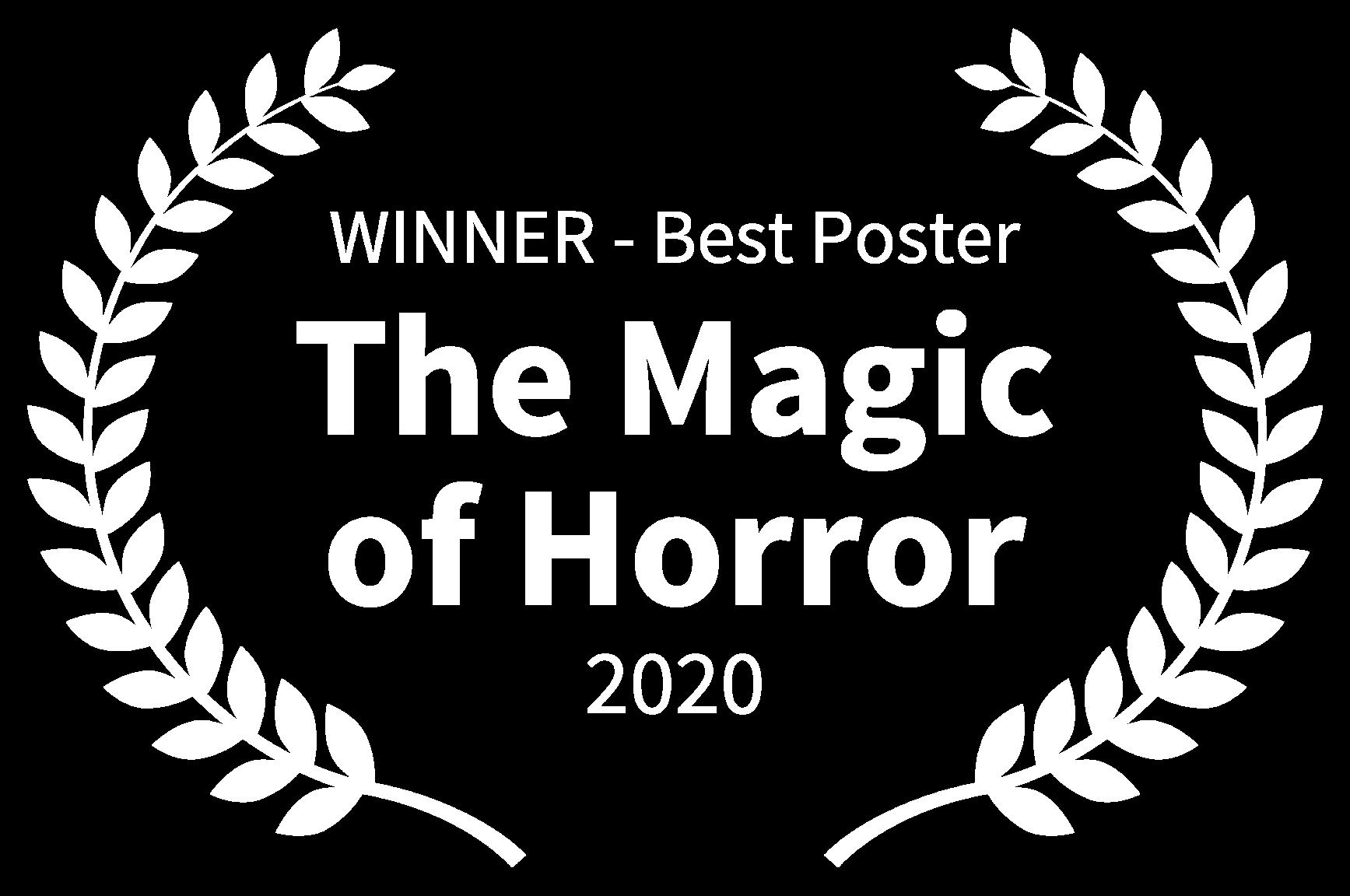 WINNER - Best Poster - The Magic of Horror - 2020 (1)