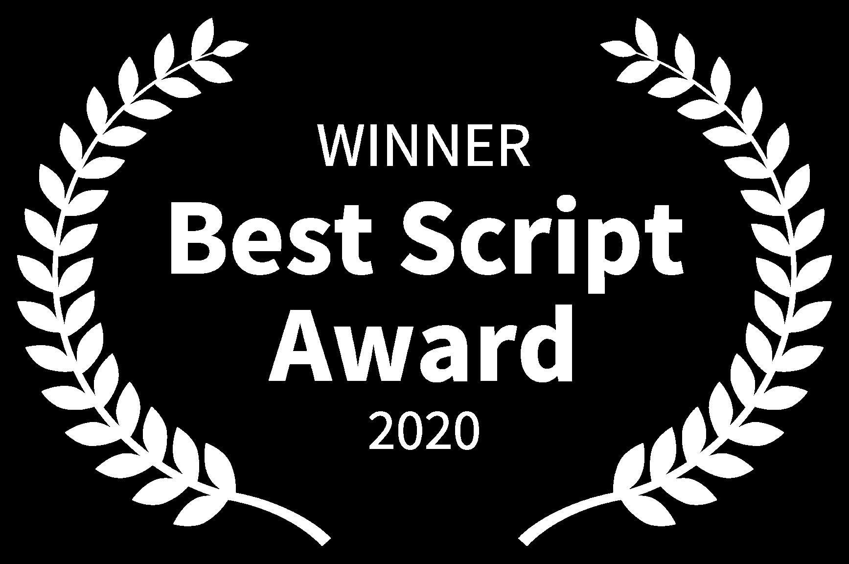 WINNER - Best Script Award - 2020